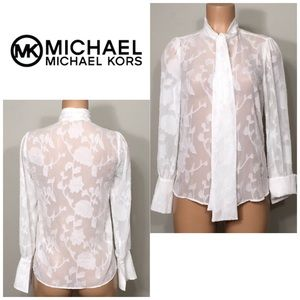 Michael Kors creamy white long sleeve top. NWOT